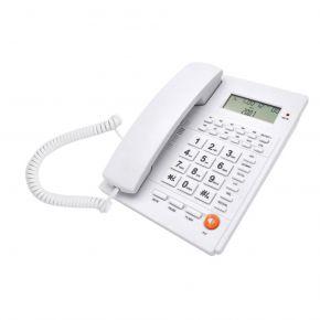Telco Ενσύρματο Τηλέφωνο με Αναγνώριση Κλήσης Λευκό ΤΜ-PA117