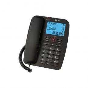 Telco Ενσύρματο Τηλέφωνο με Αναγνώριση Κλήσης Μαύρο GCE6215