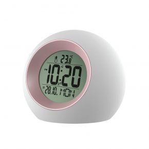 Telco Ψηφιακό Ρολόι Λευκό με Ροζ E0325