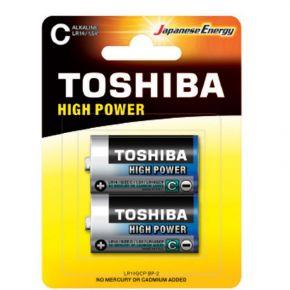 Toshiba Αλκαλικές Μπαταρίες High Power C - LR14 Μεσαίες 2 τμχ
