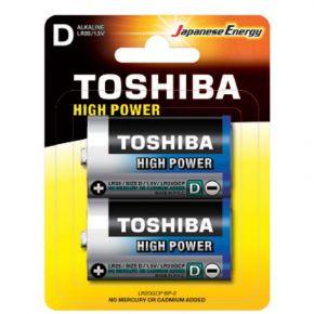 Toshiba Αλκαλικές Μπαταρίες High Power D - LR20 Μεγάλες 2 τμχ