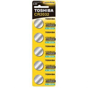 Toshiba Μπαταρία Λιθίου 3.0V - CR2032 Νόμισμα 5 τμχ