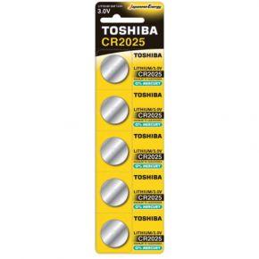 Toshiba Μπαταρία Λιθίου 3V CR2025 Πακέτο 5 τμχ