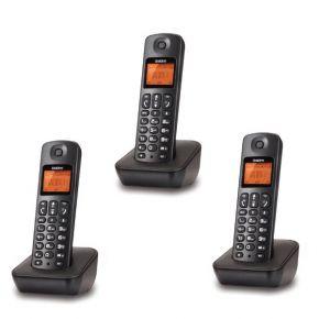 Uniden Ασύρματο Τηλέφωνο TRIPLE AT-3100-3 Μαύρο
