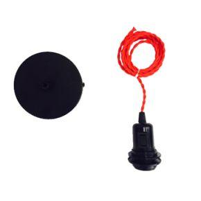 Universe Κρεμαστό Ντουι E27 με Κόκκινο Καλώδιο και Δαχτυλίδι για Καπέλο