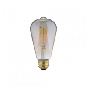 Universe LED Λάμπα 7.5W Filament ST64 E27 IP20 Dimmable Amber Glass
