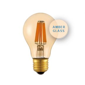 Universe LED Λάμπα 6W E27 Filament Amber Glass