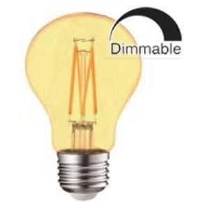 Universe LED Λάμπα E27 A60 9W Dimmable Μελί