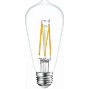 Universe LED Λάμπα Filament E27 8W Dimmable Clear Glass
