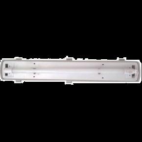 Universe Στεγανό Σκαφάκι 2x9W Για Λάμπες LED T8 Μονής Τροφοδοσίας