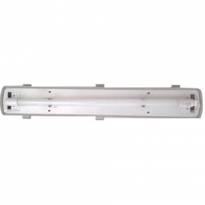 Universe Στεγανό Σκαφάκι 2x18W Για Λάμπες LED T8 Μονής Τροφοδοσίας