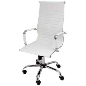 Velco Καρέκλα Γραφείου Διευθυντική 66-23539 Λευκή