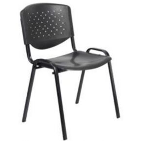 Velco Καρέκλα Επισκέπτη 66-20071 Μαύρη