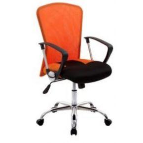 Velco Καρέκλα Γραφείου 66-18627-15 Πορτοκαλί - Μαύρο