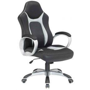 Velco Καρέκλα Γραφείου 66-23591 Μαύρη - Γκρι