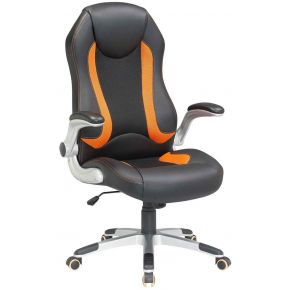 Velco Καρέκλα Γραφείου Διευθυντική 66-23553 Μαύρη - Πορτοκαλί