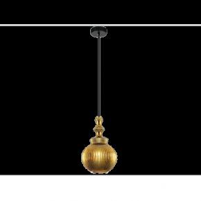 Viokef Κρεμαστό Μονόφωτο Φωτιστικό Jakarta Max 40w E27 Γυαλί Χρυσό Στρογγυλό