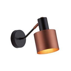 Viokef Απλίκα Τοίχου Dexter Max 40W E27 Μαύρη Χάλκινη Μεταλλική