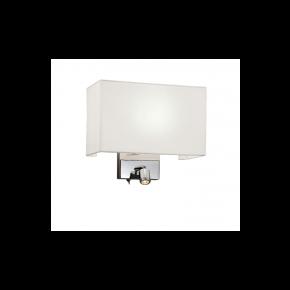 Viokef Απλίκα Τοίχου H:250 Baltimore LED 1W/Max 42W E27 Καπέλο Πλαστικοποιημένο Βάση Νίκελ Ματ Μεταλλικό