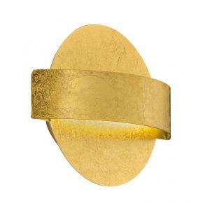 Viokef Απλίκα Τοίχου Koben LED 5W Χρυσό Μεταλλικό
