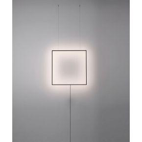 Viokef Απλίκα Τοίχου Shadow LED 28W Με Κρέμαση Απο Οροφή Μαύρο Μεταλλικό