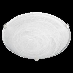 Viokef Δίφωτη Πλαφονιέρα Οροφής Electra Max 42W E27 Λευκό Αλάβαστρο Γυαλί