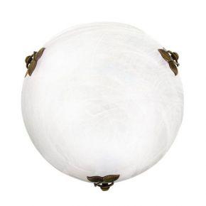 Viokef Δίφωτη Πλαφονιέρα Οροφής Flora MAx 42W E27 Λευκό Αλάβαστρο Γυαλί