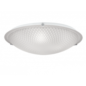 Viokef Δίφωτη Πλαφονιέρα Οροφής Romvos Max 42W E27 Λευκό Σατινέ Γυαλί