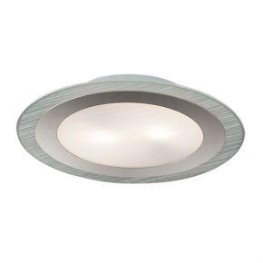 Viokef Δίφωτη Πλαφονιέρα Οροφής Round Chloe Max 52W E27 Γυαλί Σατινέ