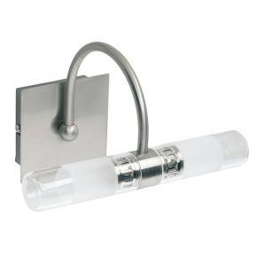 Viokef Δίφωτο Φωτιστικό Μπάνιου Tube Max 33W G9 Διάφανο Σατινέ Γυαλί