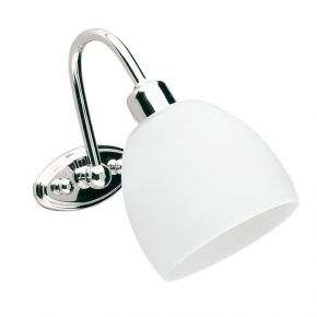 Viokef Φωτιστικό Μπάνιου Niobe Max 42W E14 Σατινέ Γυαλί Χρώμιο