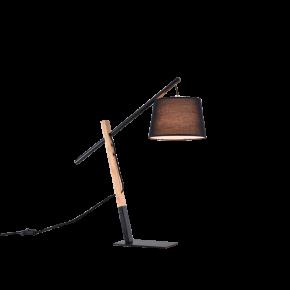 Viokef Φωτιστικό Πορτατίφ Crane Max 40W E27 Μαύρο Μεταλλικό/Ξύλινο