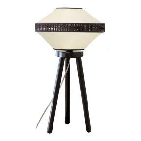 Viokef Φωτιστικό Πορτατίφ Vilma Max 40W E27 Λευκό Υφασμάτινο Καπέλο Ξύλινο