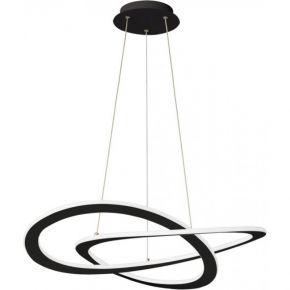 Viokef Κρεμαστό Φωτιστικό Spot Οροφής Charlie LED 50W Μαύρο Με Λευκό PC Μεταλλικό