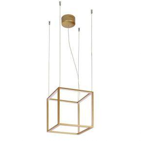 Viokef Κρεμαστό Φωτιστικό Οροφής Gold-Cube LED 26W Χρυσό Ματ Μεταλλικό