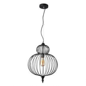 Viokef Κρεμαστό Φωτιστικό Οροφής Zola Max 60W E27 Μαύρο Μεταλλικό