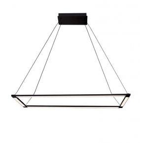 Viokef Κρεμαστό Φωτιστικό Spot Οροφής Tiffany LED 54W Μαύρο Μεταλλικό