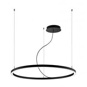 Viokef Κρεμαστό Φωτιστικό Spot Οροφής Verdi LED 48W Μαύρο Μεταλλικό