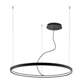 Viokef Κρεμαστό Φωτιστικό Spot Οροφής Verdi LED 54W Μαύρο Μεταλλικό