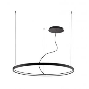 Viokef Κρεμαστό Φωτιστικό Spot Οροφής Verdi LED 63W Μαύρο Μεταλλικό