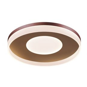 Viokef Μονόφωτη Πλαφονιέρα Οροφής Madlin LED 42W Καφέ Μεταλλικό