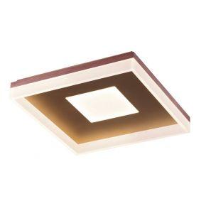 Viokef Μονόφωτη Πλαφονιέρα Οροφής Madlin LED 43W Καφέ Μεταλλικό