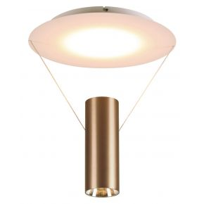 Viokef Μονόφωτη Πλαφονιέρα Οροφής Ramon LED 24W Καφέ Μεταλλικό
