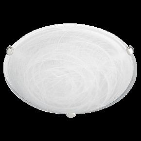 Viokef Πλαφονιέρα Οροφής Electra Max 52W E27 Γυαλί Αλάβαστρο Λευκό