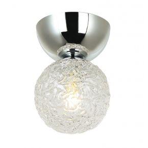 Viokef Πλαφονιέρα Οροφής Sylia Max 5W LED G9 Γυαλί Διάφανο Βάση Χρώμιο Μεταλλική