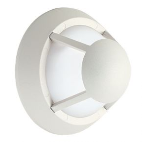 Viokef Spot Απλίκα Εξωτερικού Χώρου Santorini LED 5W IP65 Λευκό Αλουμίνιο Σκιάδιο PC