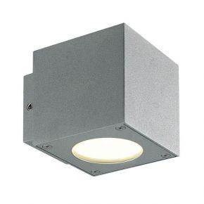 Viokef Spot Απλίκα Εξωτερικού Χώρου Cube Tech LED 6W IP44 Γκρί Αλουμίνιο