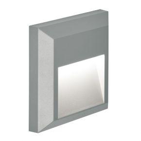 Viokef Spot Απλίκα Εξωτερικού Χώρου D:125x125 Leros Plus LED 1.5W IP44 Γκρί Πλαστικό