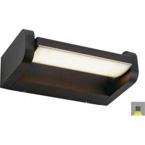 Viokef Spot Απλίκα Εξωτερικού Χώρου Milos LED 6W IP54 Μαύρο Αλουμίνιο Σκιάδιο PC