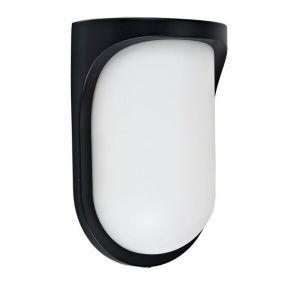 Viokef Spot Απλίκα Εξωτερικού Χώρου Sikinos LED 8W IP44 Μαύρο Πλαστικό